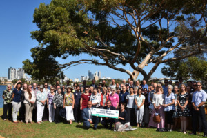 A group shot of recipients of the 2020 Swan Alcoa Landcare Partnership grants.